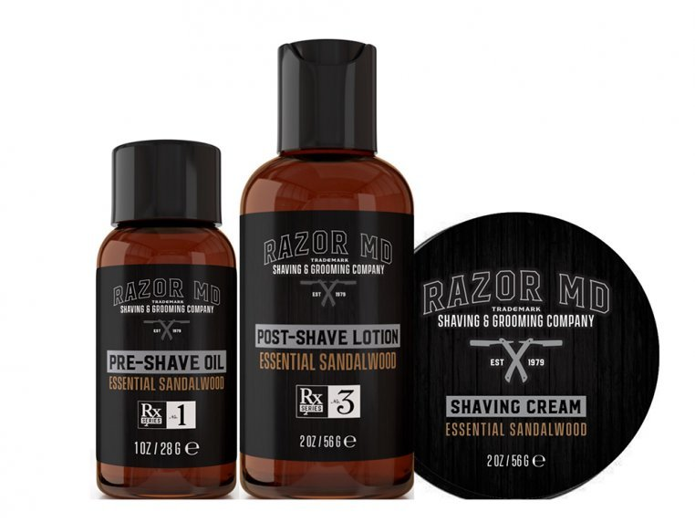 Pre-Shave, Lotion, & Shave Cream Kit by Razor MD - 2