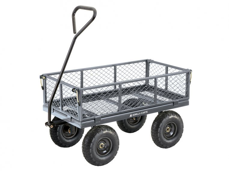Gorilla Carts Steel Utility Cart 600 lb Capacity by Tricam Industries - 1