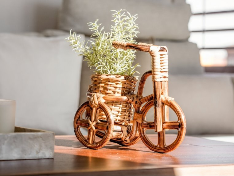Rattan Bike Planter by LIKHÂ - 2