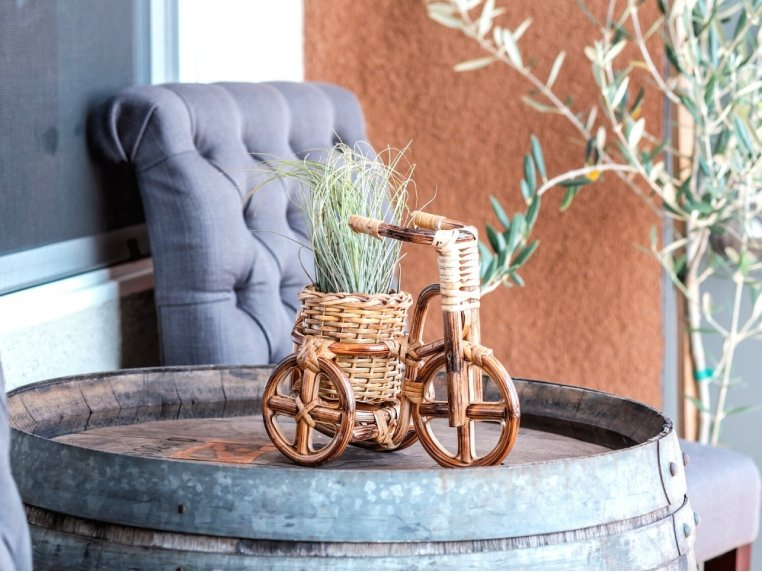 Rattan Bike Planter by LIKHÂ - 3