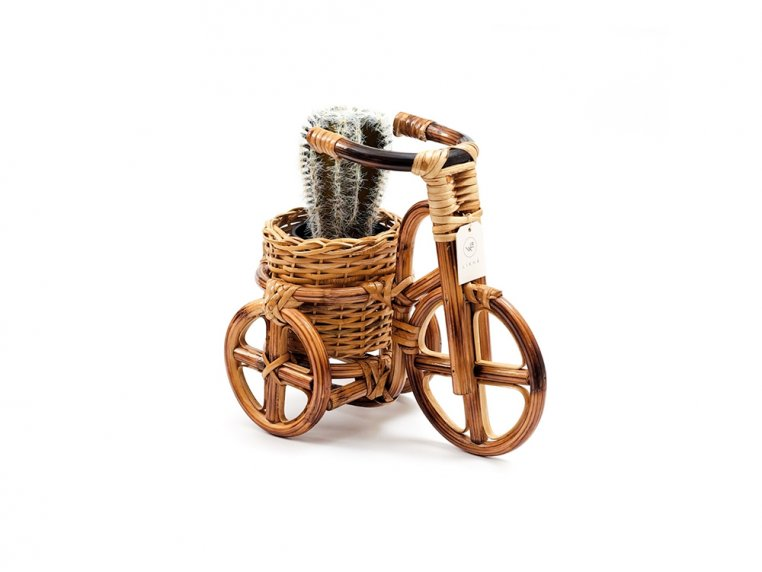 Rattan Bike Planter by LIKHÂ - 1