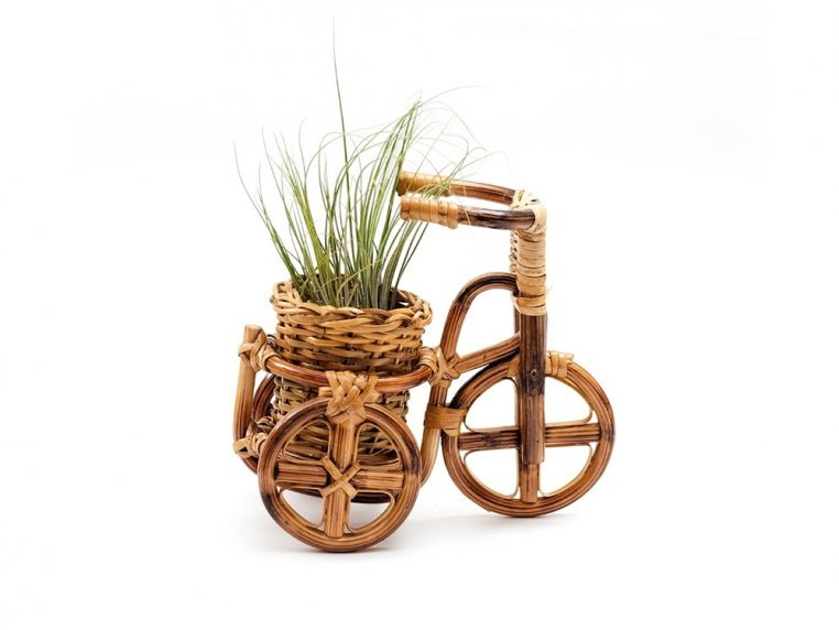 Rattan Bike Planter by LIKHÂ - 4
