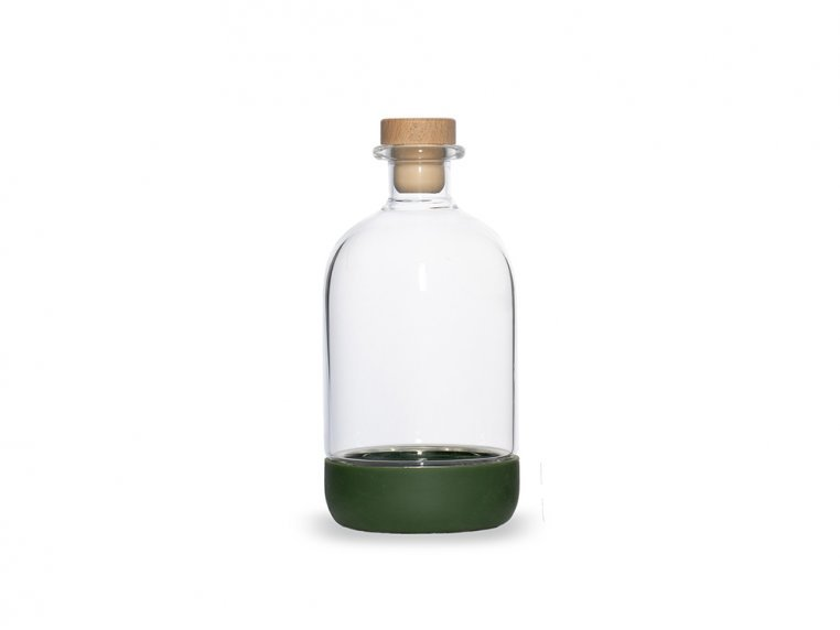 Chubby Glass Bottle & Pour Spout by Crew Supply Co. - 8