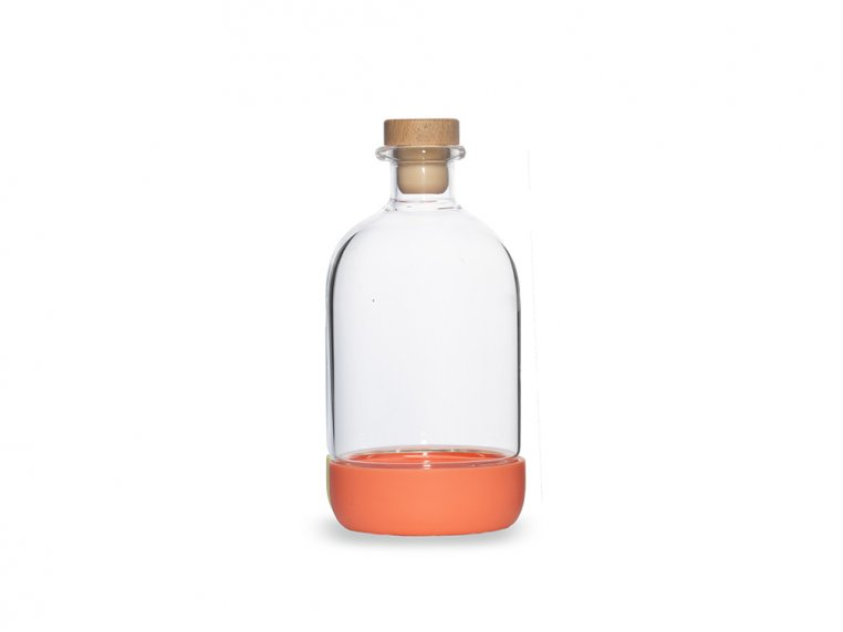 Chubby Glass Bottle & Pour Spout by Crew Supply Co. - 12