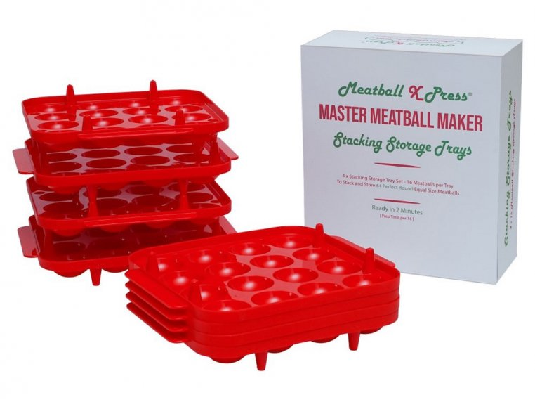 Meatball Stacking Storage Trays by Meatball Xpress - 2