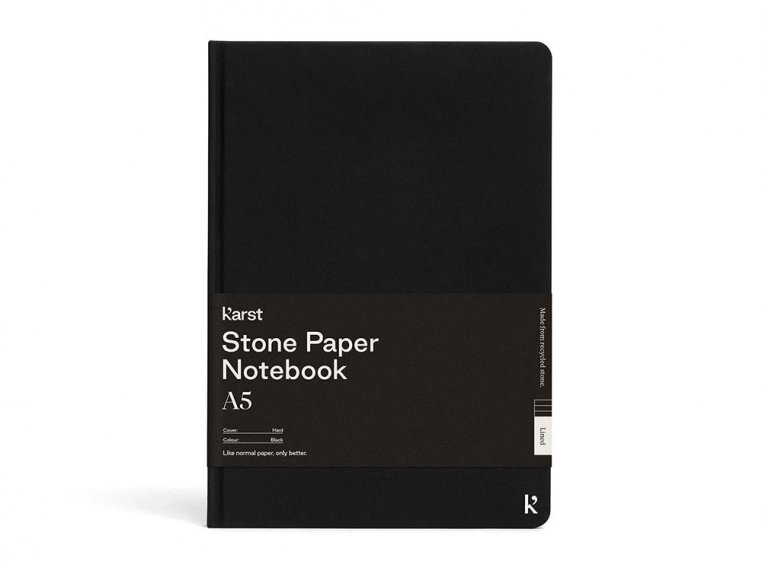 A5 Hardcover Lined Notebook - Black