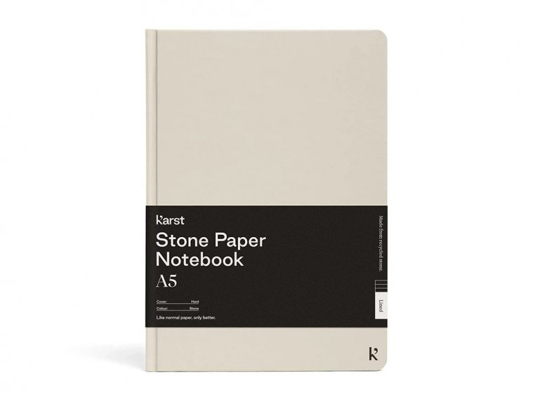 A5 Hardcover Lined Notebook - Stone