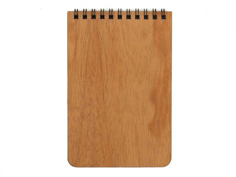 Custom Wooden Cover Notepad by Woodchuck USA - 4