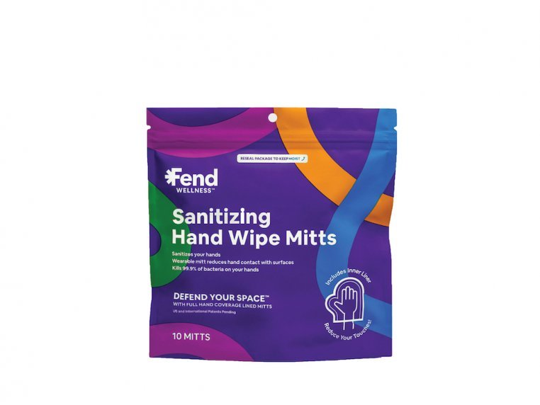 Sanitizing Hand Wipe Mitts by Fend Wellness - 5