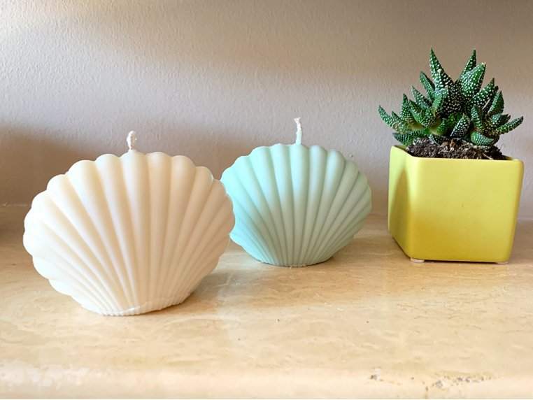 Seashell Candle - Set of 2 by Belle Candle Supply - 2