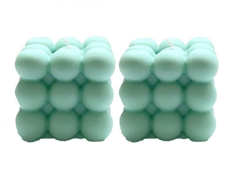 Bubble Cube Candle - Set of 2 by Belle Candle Supply - 4