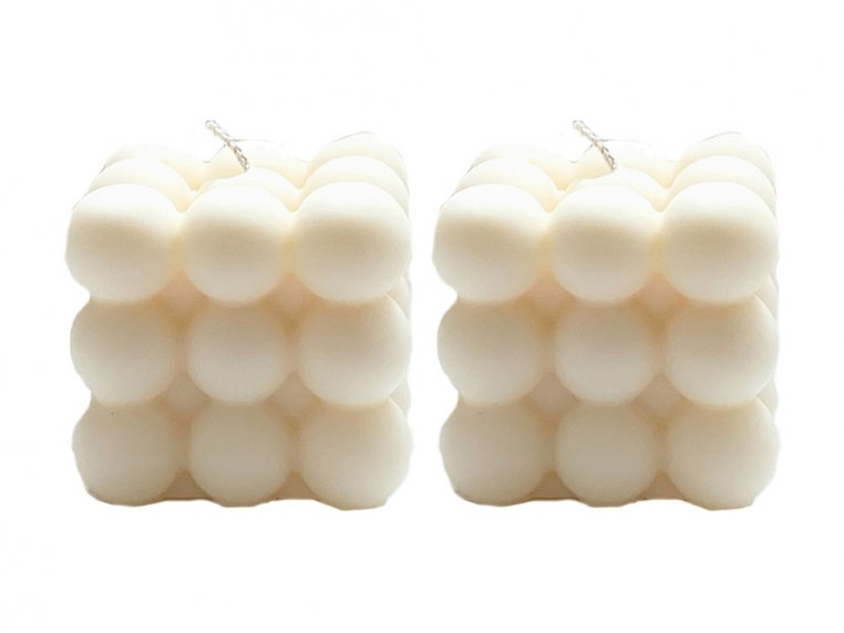 Bubble Cube Candle - Set of 2 by Belle Candle Supply - 5