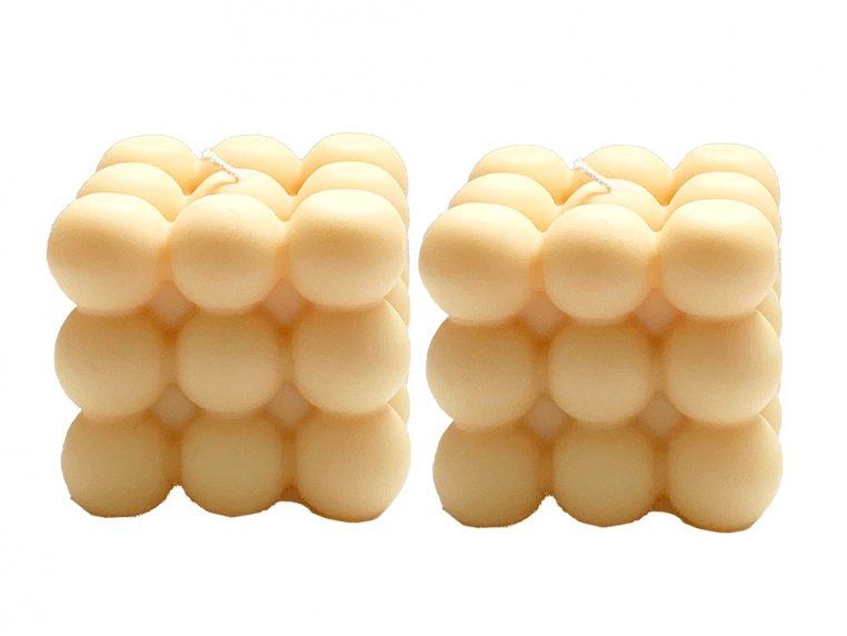 Bubble Cube Candle - Set of 2 by Belle Candle Supply - 6