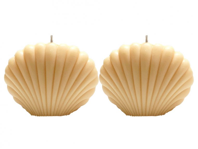 Seashell Candle - Set of 2 by Belle Candle Supply - 6