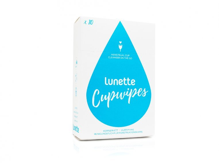 Cup Wipes - 10 Pack by Lunette - 1