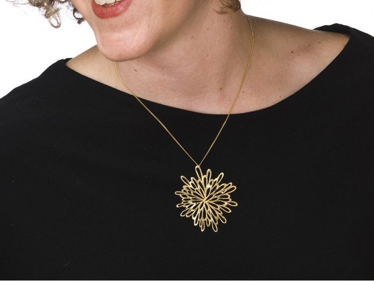 Starburst Pendant Necklace by Pop-Out Jewelry - 1