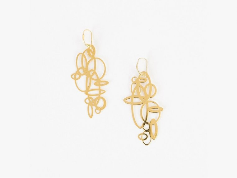 Circles Earrings by Pop-Out Jewelry - 5