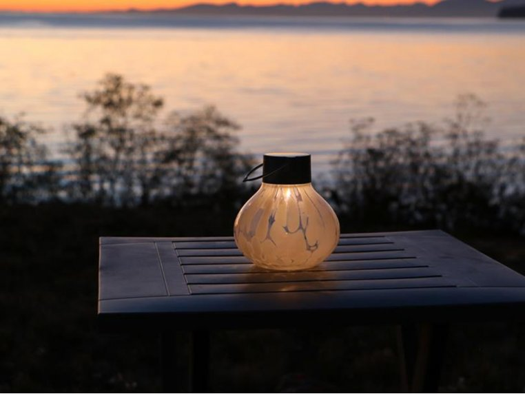 Solar Glass Tea Lantern by Allsop Home & Garden - 2