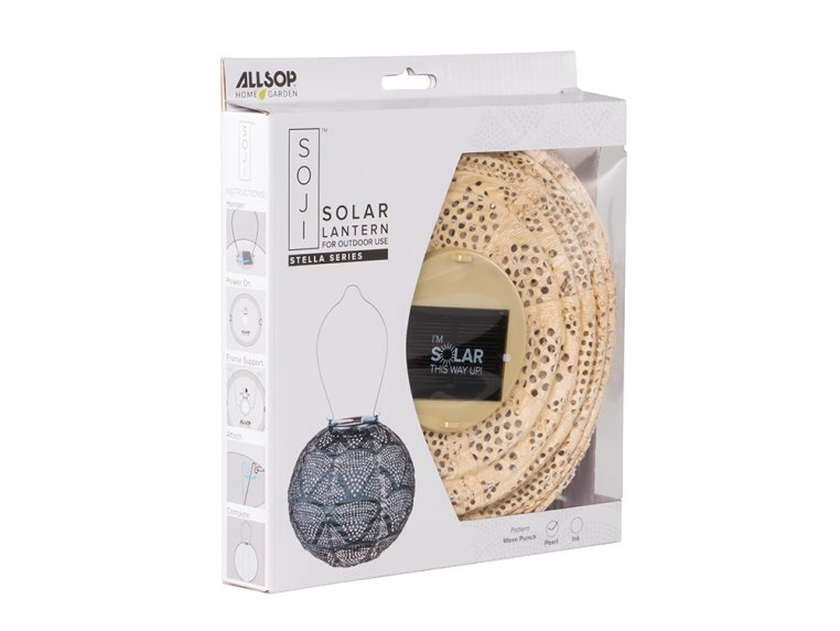 Soji Stella Solar Boho Lantern by Allsop Solar Lighting - 3