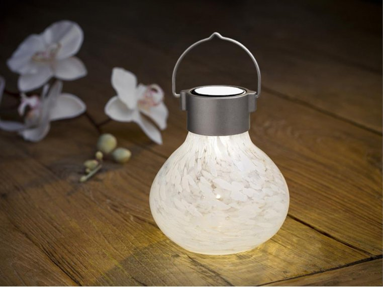 Solar Glass Tea Lantern by Allsop Home & Garden - 3