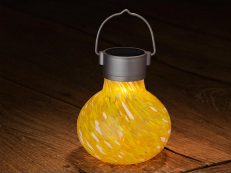 Solar Glass Tea Lantern by Allsop Home & Garden - 4