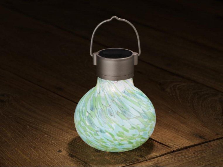 Solar Glass Tea Lantern by Allsop Home & Garden - 5