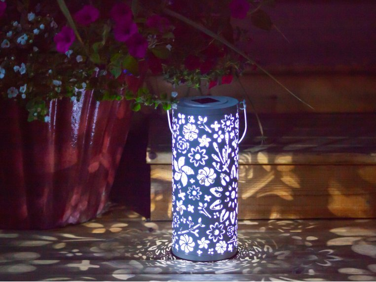 Punched Metal Bloom Lanterns by Allsop Home & Garden - 1
