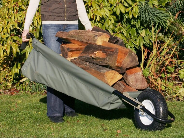 WheelEasy Foldable Canvas Wheelbarrow by Allsop Home & Garden - 1