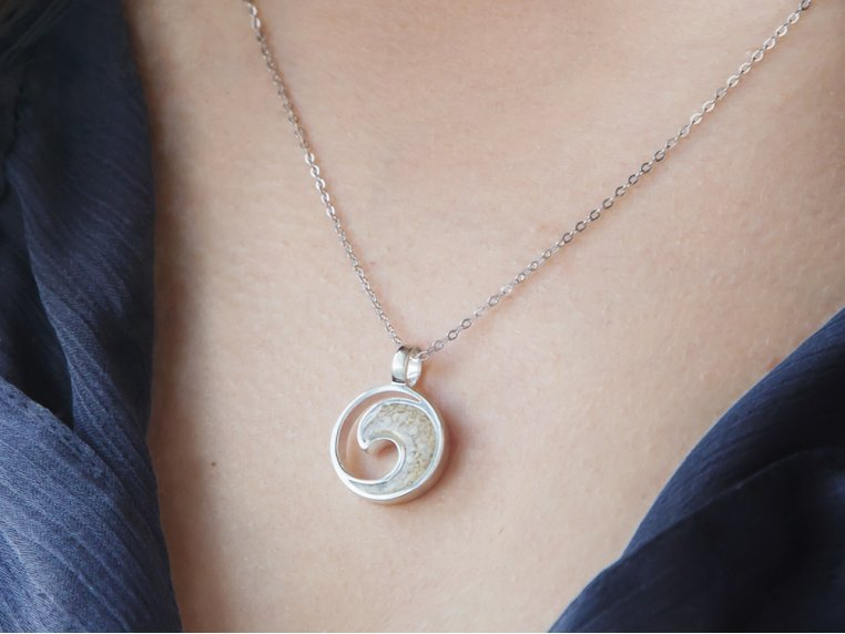 Wave Necklace by Dune Jewelry - 1