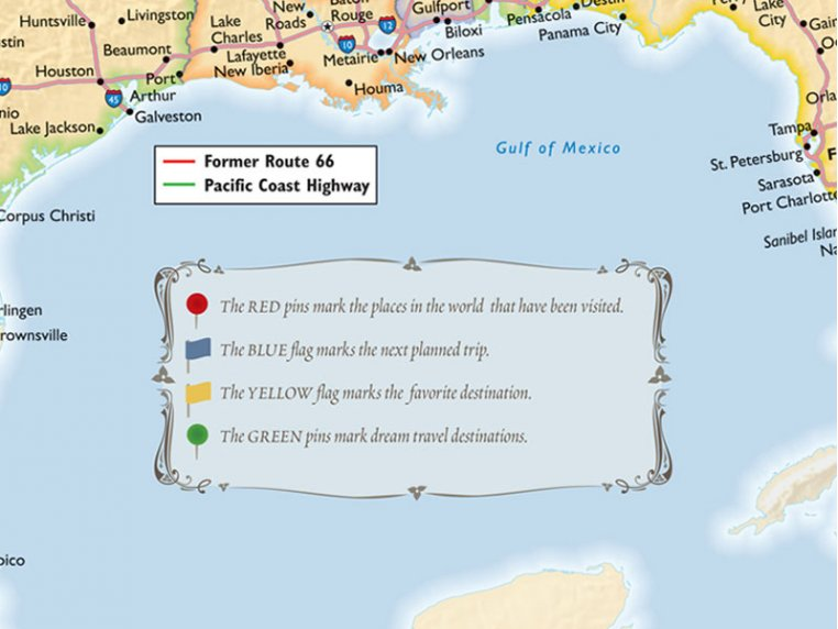 Personalized Traveler Maps by Map Your Travels - 3