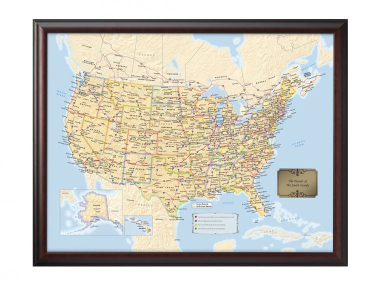 Personalized Traveler Maps by Map Your Travels - 6