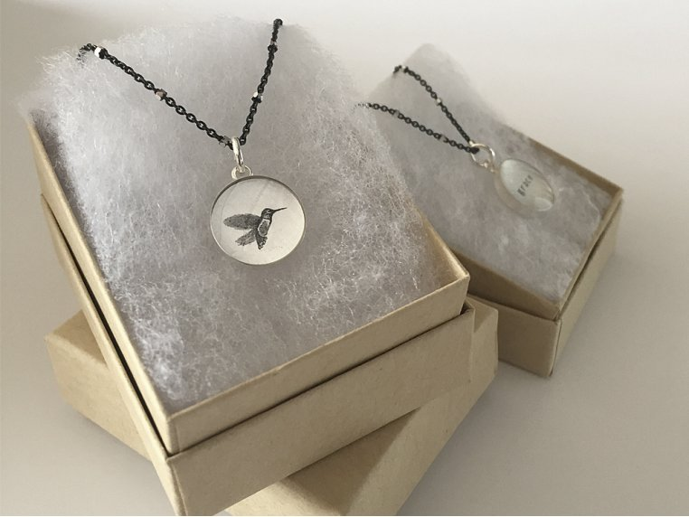 Silver Pendant Black Chain Necklace by Everyday Artifact - 2