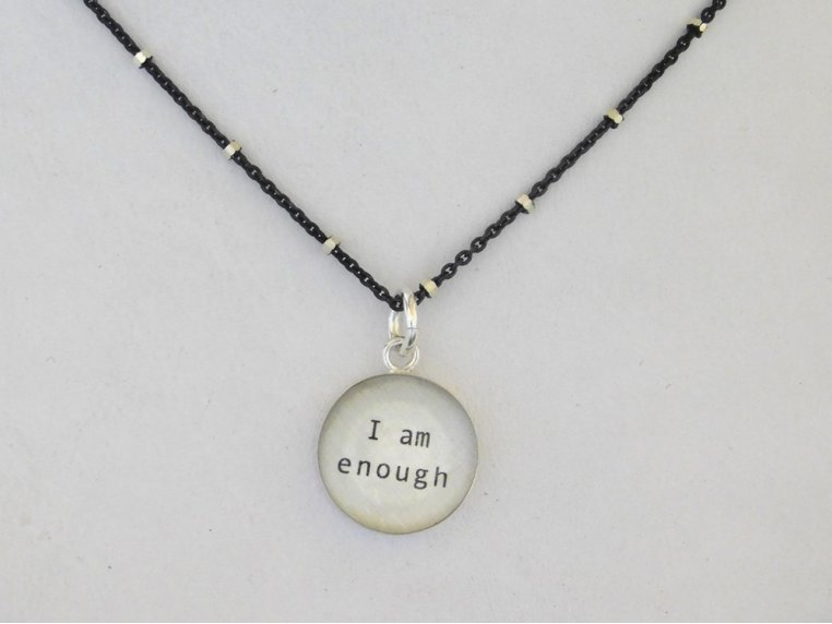 Silver Pendant Black Chain Necklace by Everyday Artifact - 4