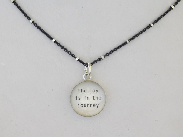 Silver Pendant Black Chain Necklace by Everyday Artifact - 8