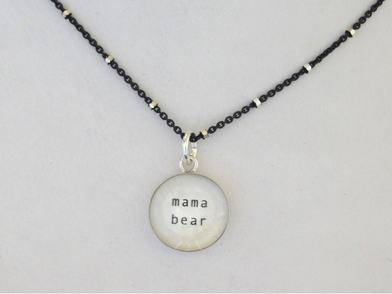 Silver Pendant Black Chain Necklace by Everyday Artifact - 11