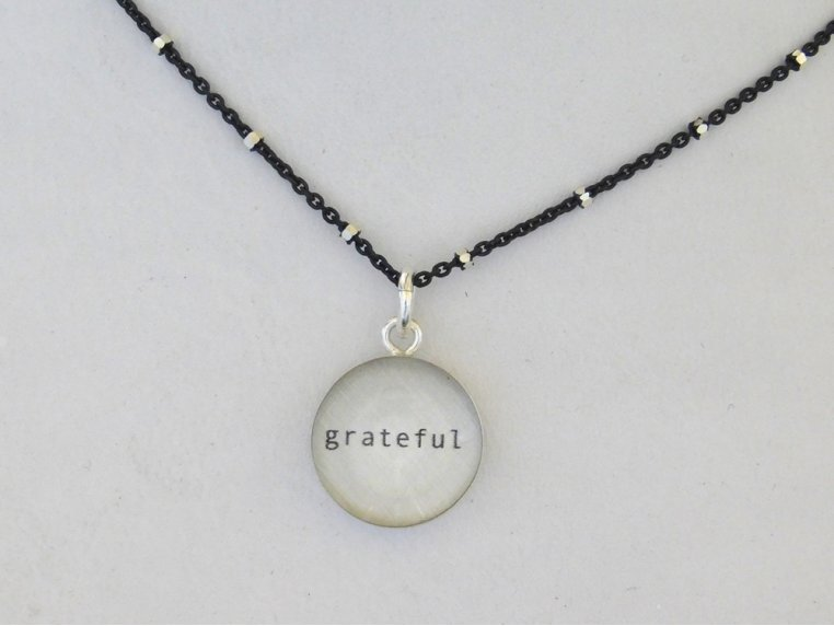 Silver Pendant Black Chain Necklace by Everyday Artifact - 12