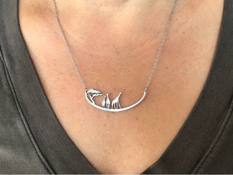 Nature-Inspired Silhouette Necklace