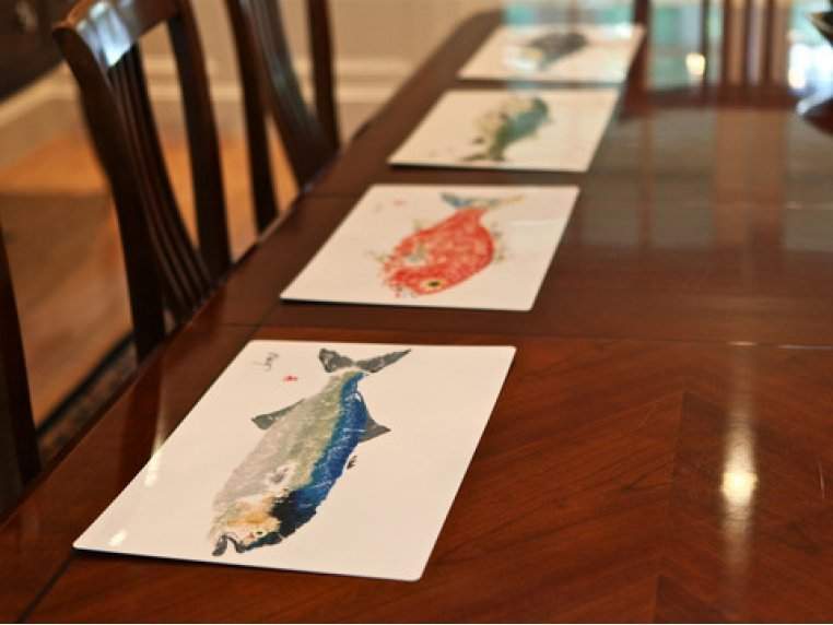 Fish-Rubbing Placemats - Set of 4 by Fish Aye Trading - 8