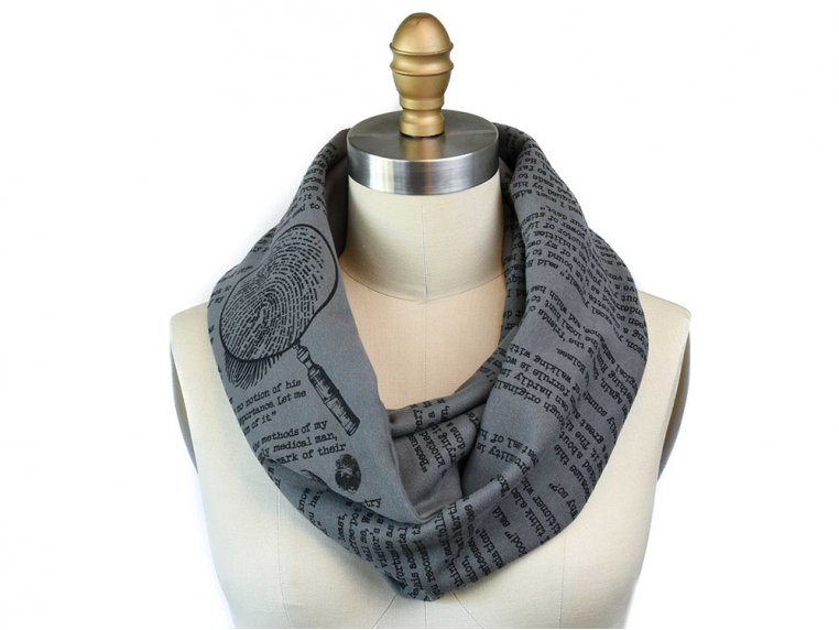 Book Themed Infinity Scarf by STORIARTS - 19