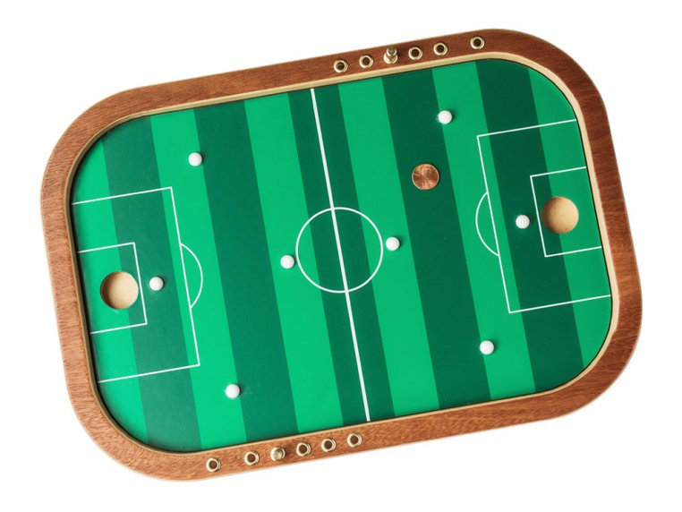 Wooden Tabletop Penny Soccer Game by Across The Board - 2
