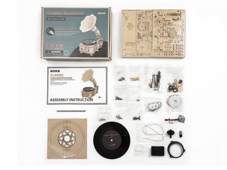DIY Vintage Record Player by Robotime - 8