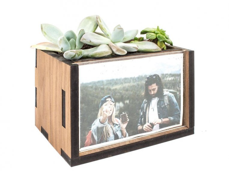 Wooden Picture Frame Desktop Planter by Woodchuck USA - 5