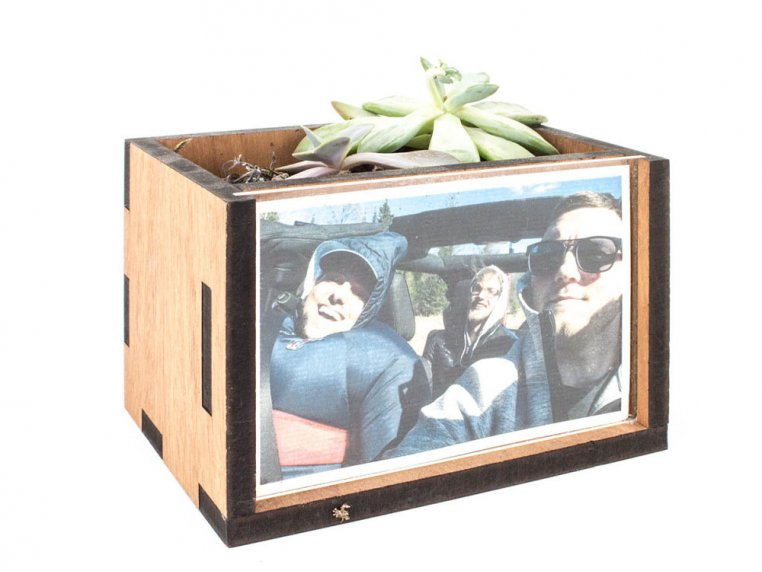 Wooden Picture Frame Desktop Planter by Woodchuck USA - 4
