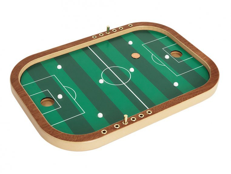 Wooden Tabletop Penny Soccer Game by Across The Board - 1