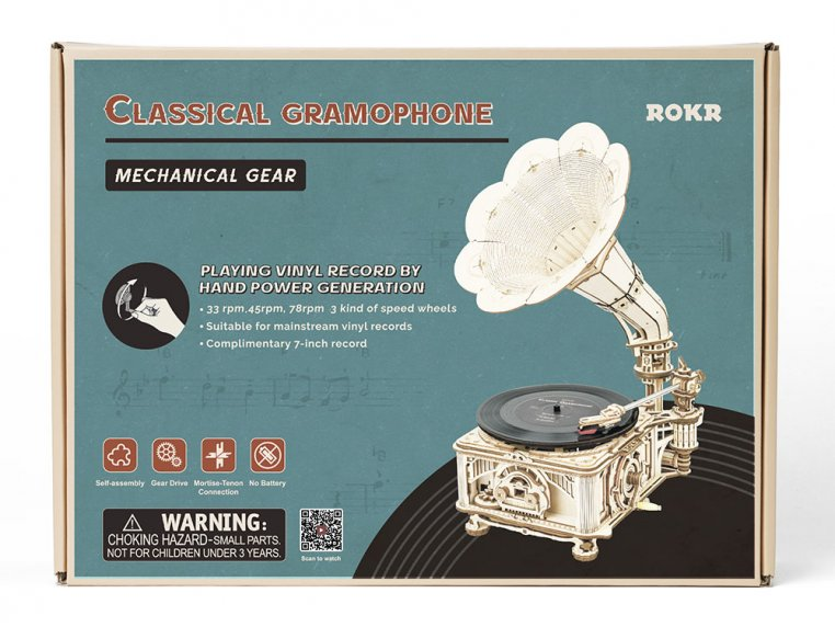 DIY Vintage Record Player by Robotime - 6