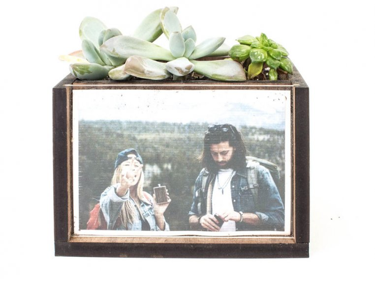 Wooden Picture Frame Desktop Planter by Woodchuck USA - 3