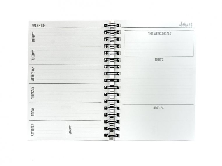 Custom Wooden Cover Weekly Planner by Woodchuck USA - 4
