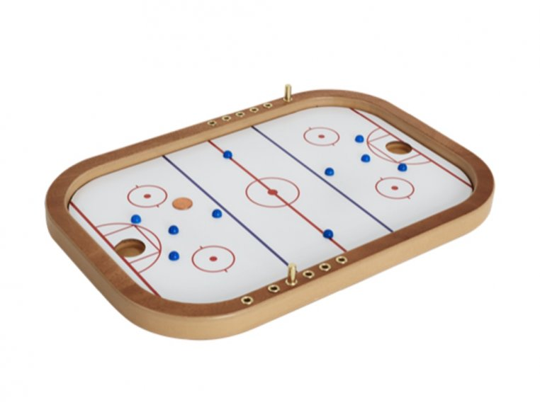 Wooden Tabletop Penny Hockey Game by Across The Board - 2