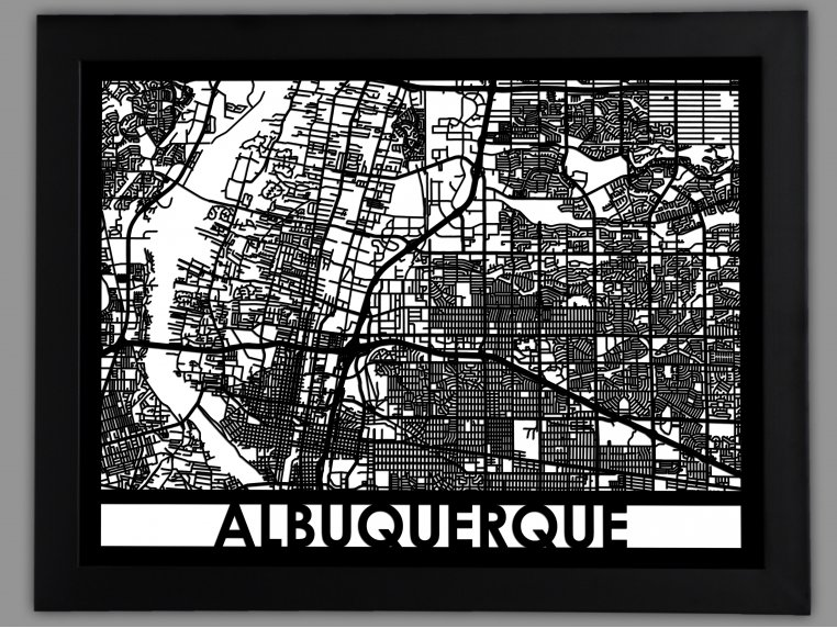 Laser Cut Worldwide City Map by Cut Maps - 47