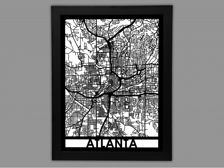 Laser Cut Worldwide City Map by Cut Maps - 35